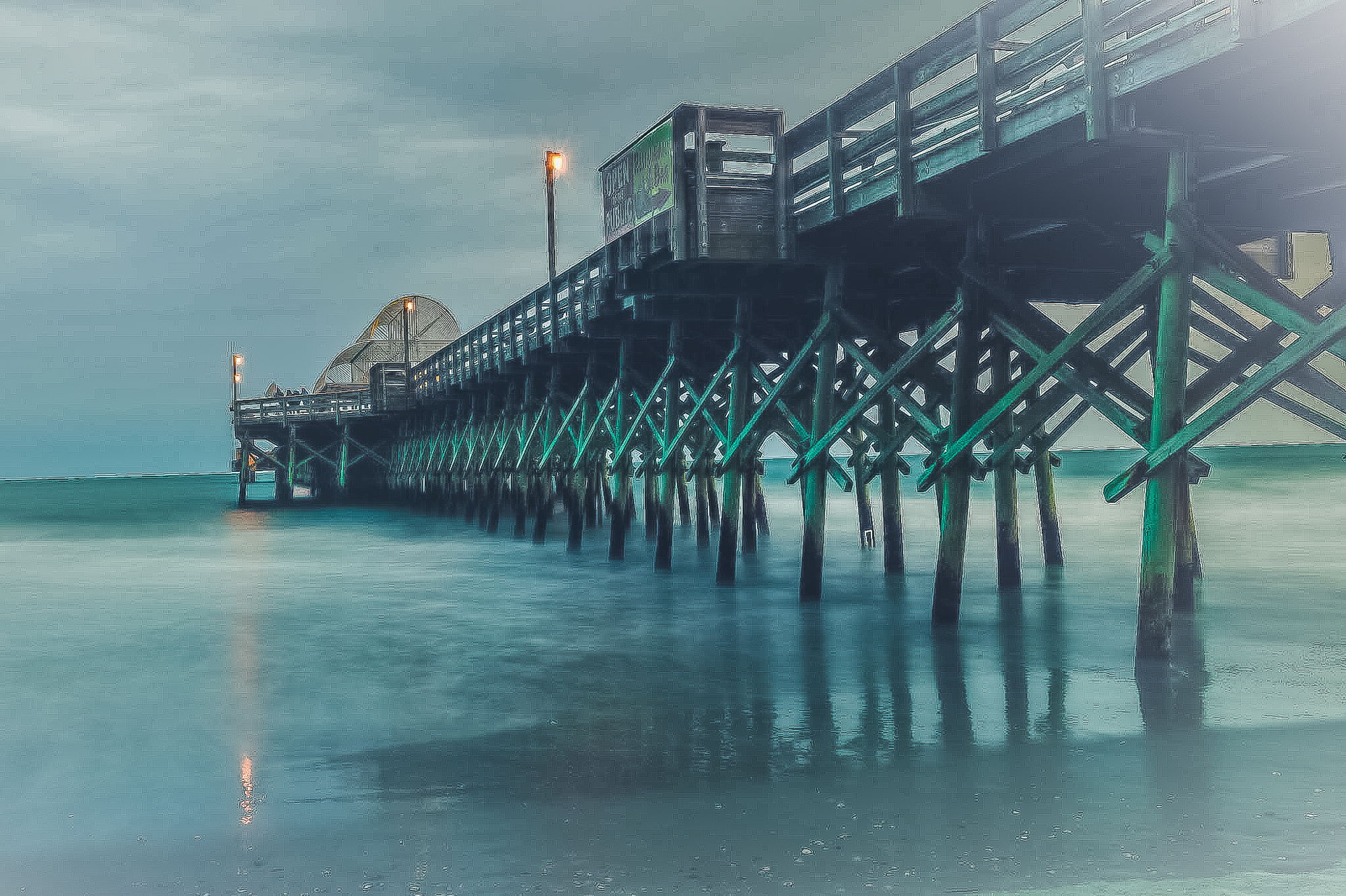 58057F - Apache Pier - Green Hue at