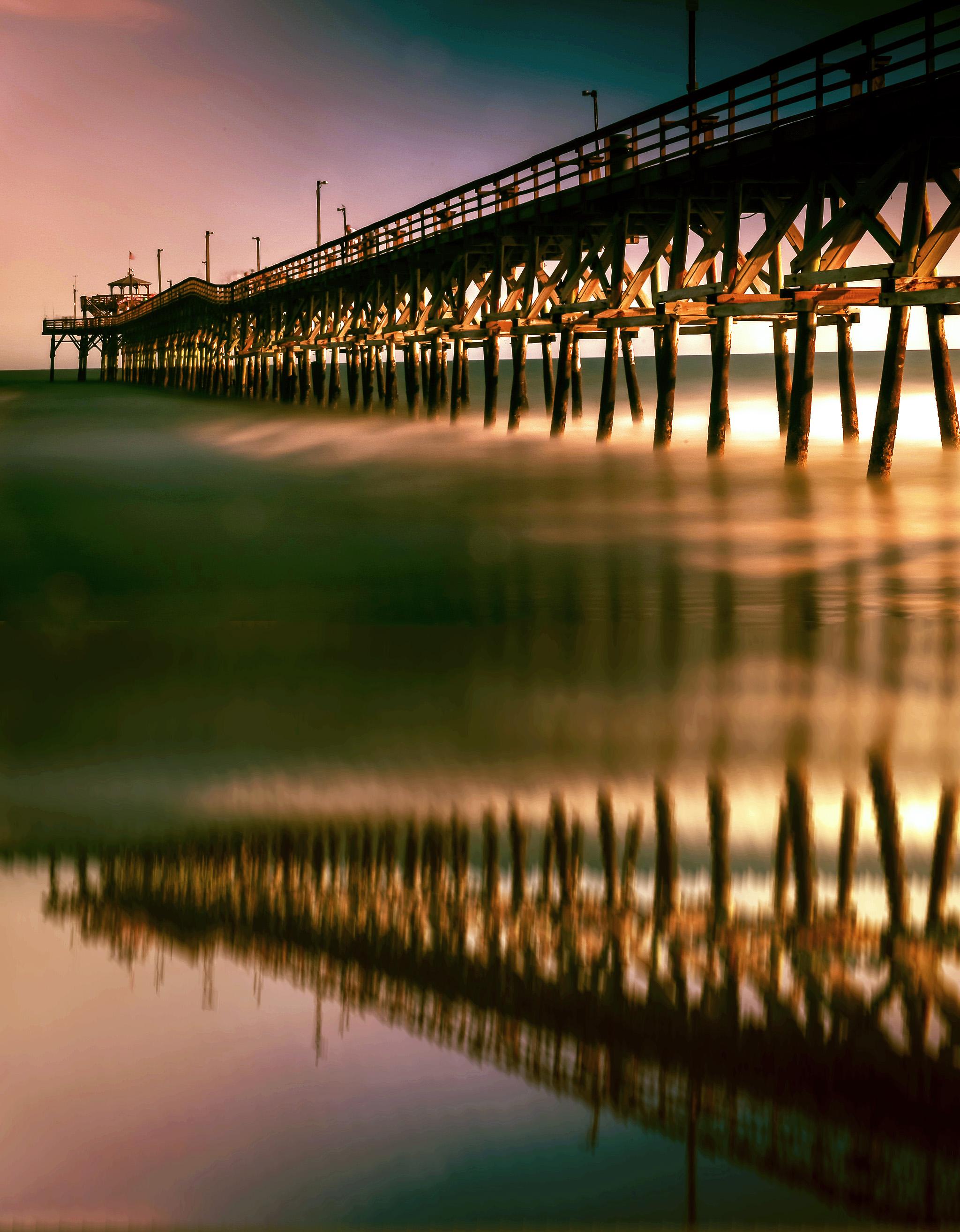 58059A - Cherry Grove Pier Reflectio