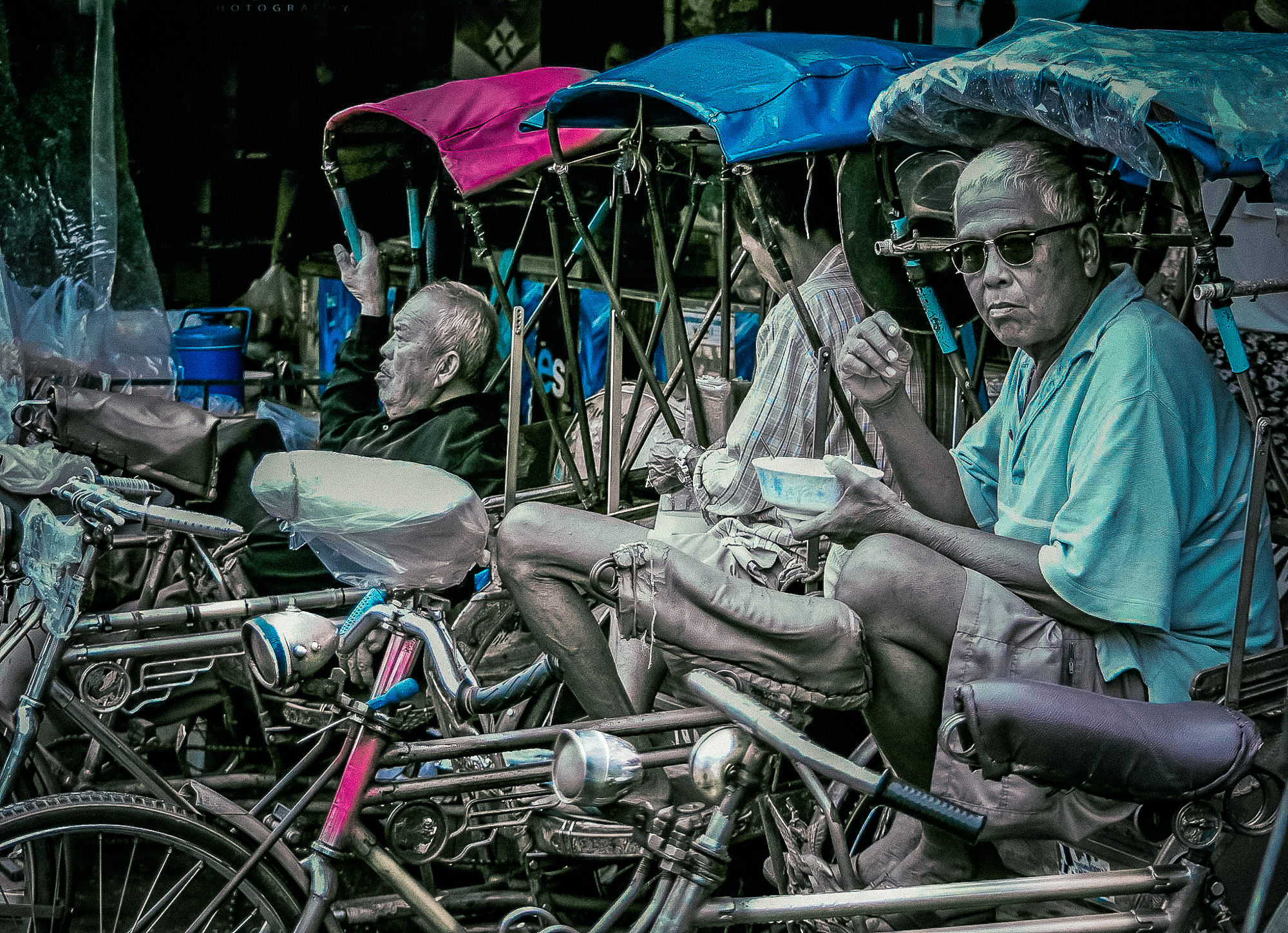 58147G - Cycle Rickshaws - Bangkok