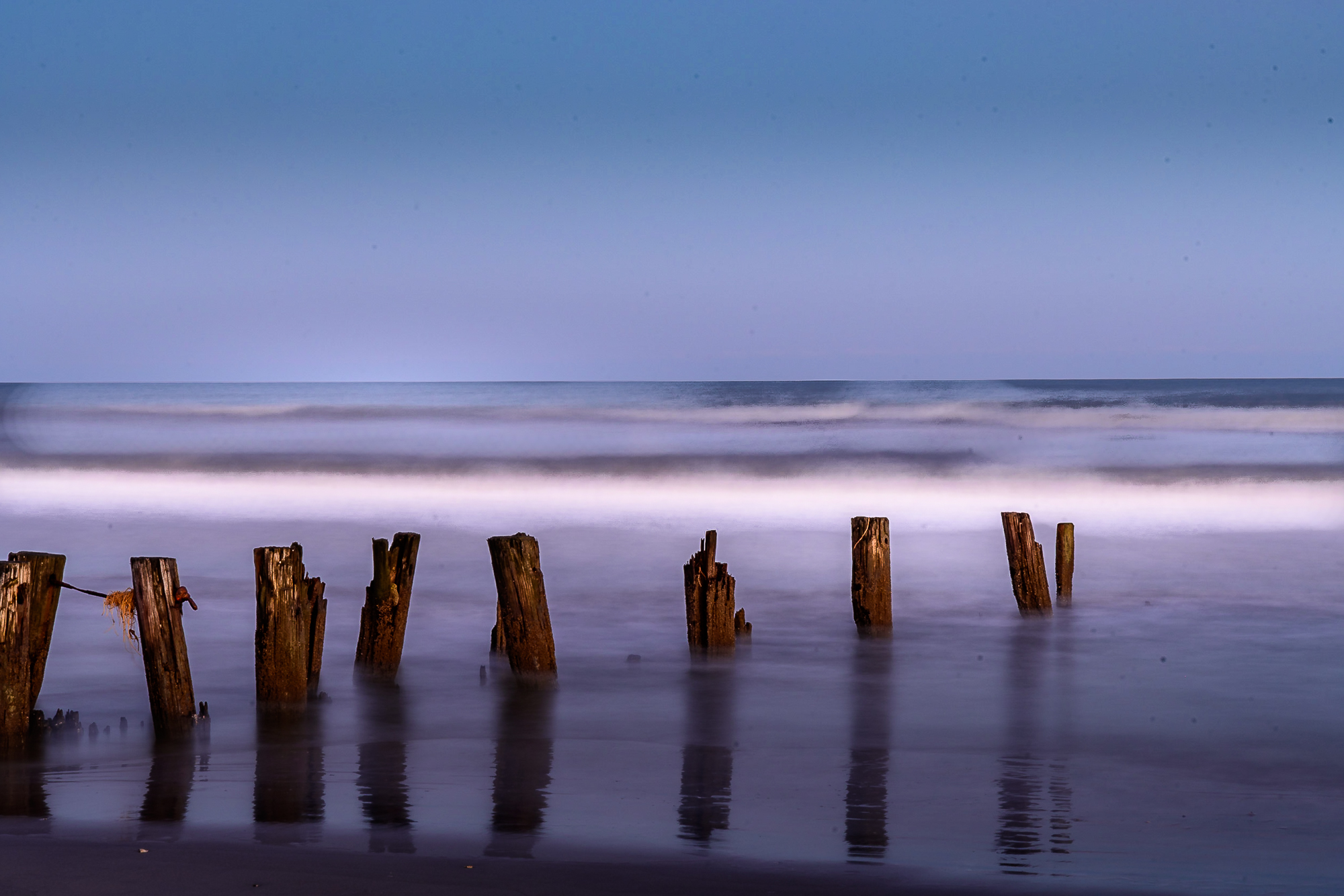58056F - Night Ocean with Old Pier P