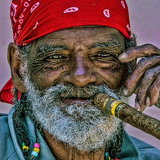 58093A - Man with Cuban Cigar 2