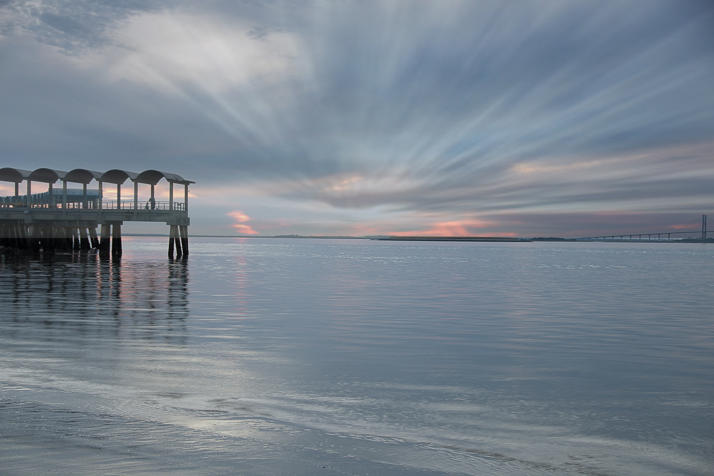 58058A - Pier and Clouds