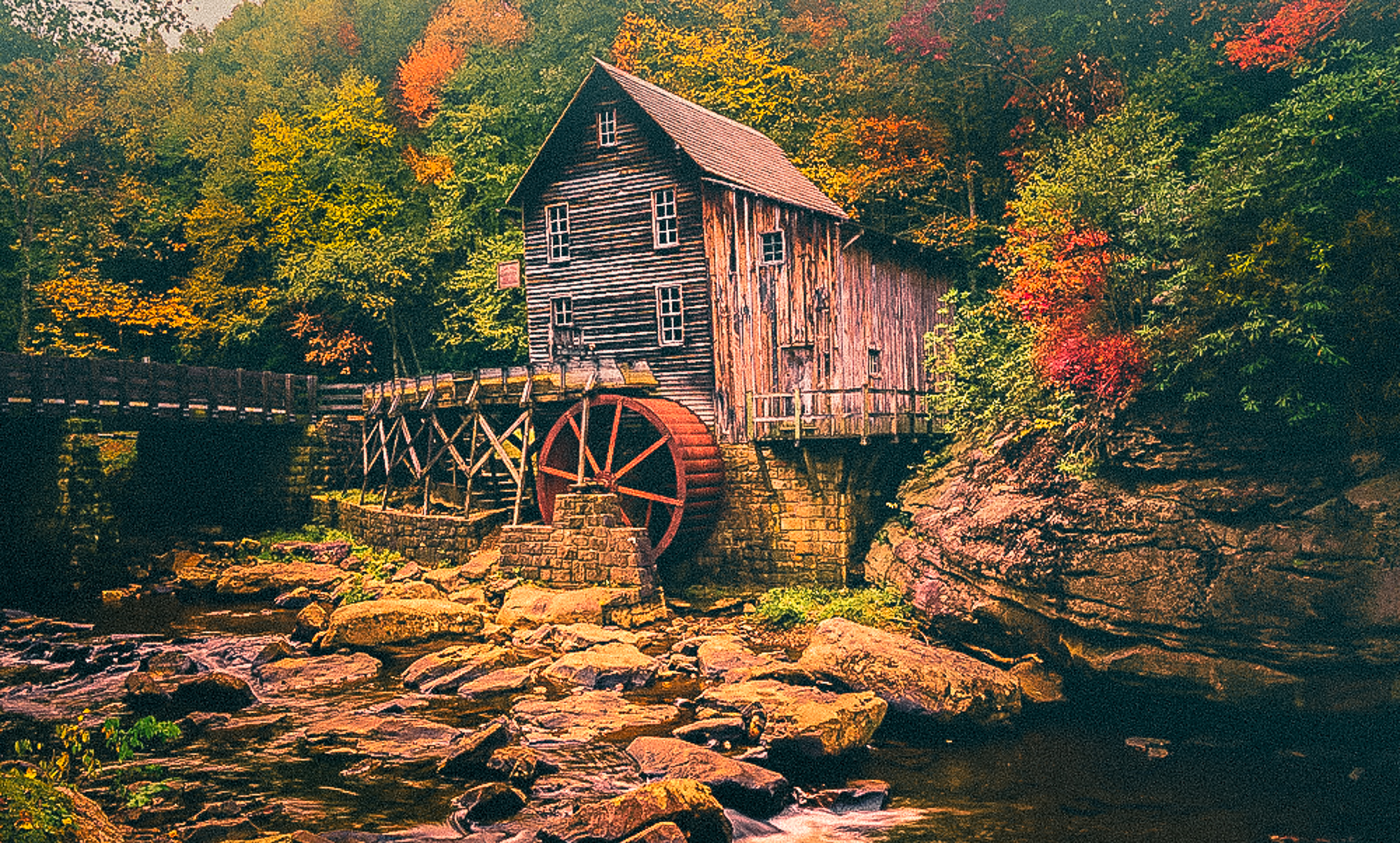 58082A - Glade Creek Grist Mill - Ba