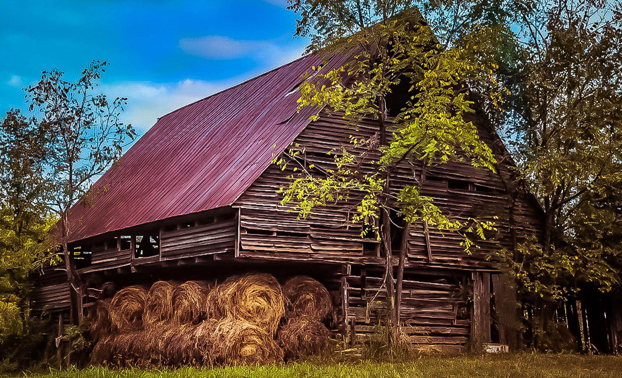 58072A - Barn w/ Hay