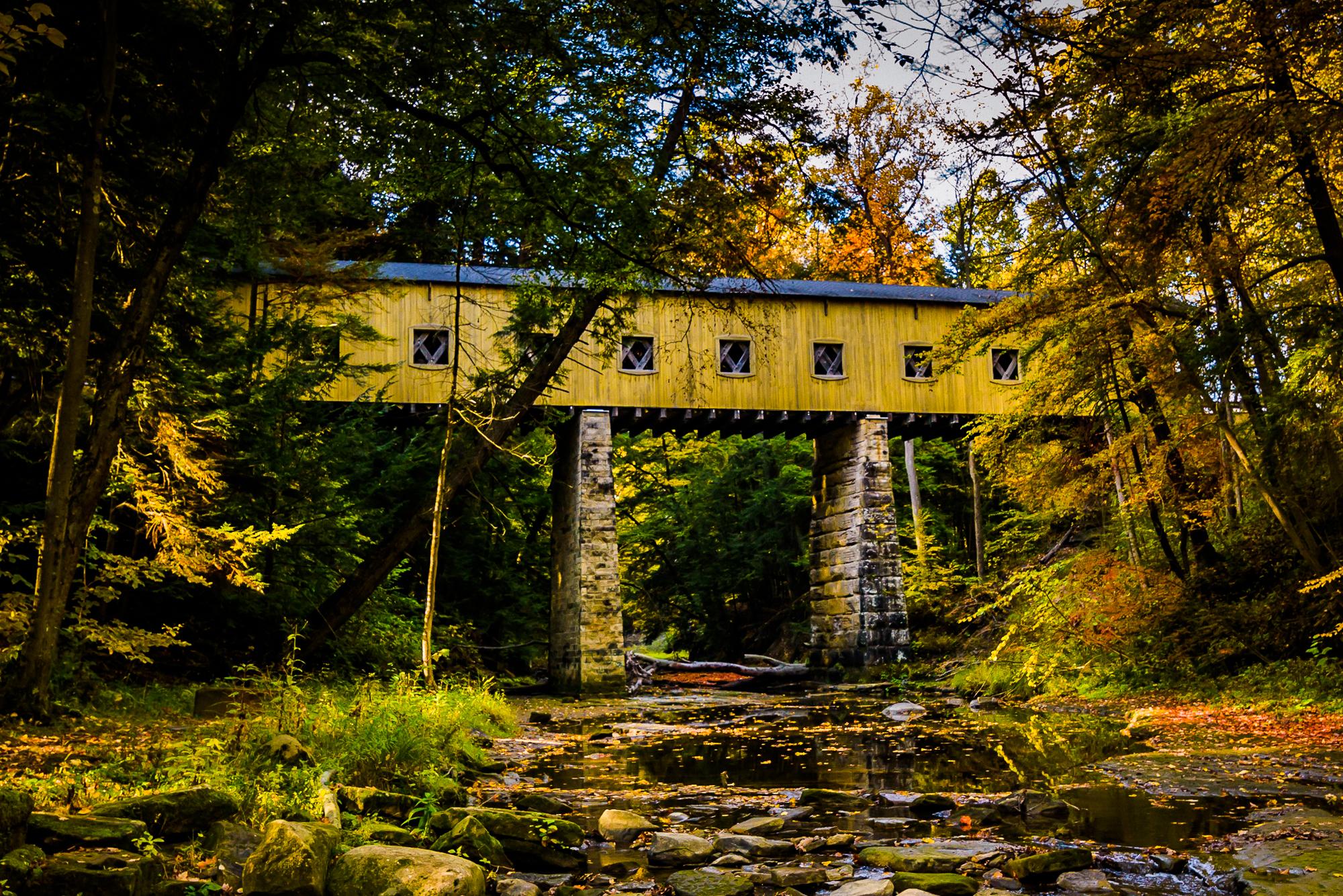 58076A - Covered bridge - Yellow