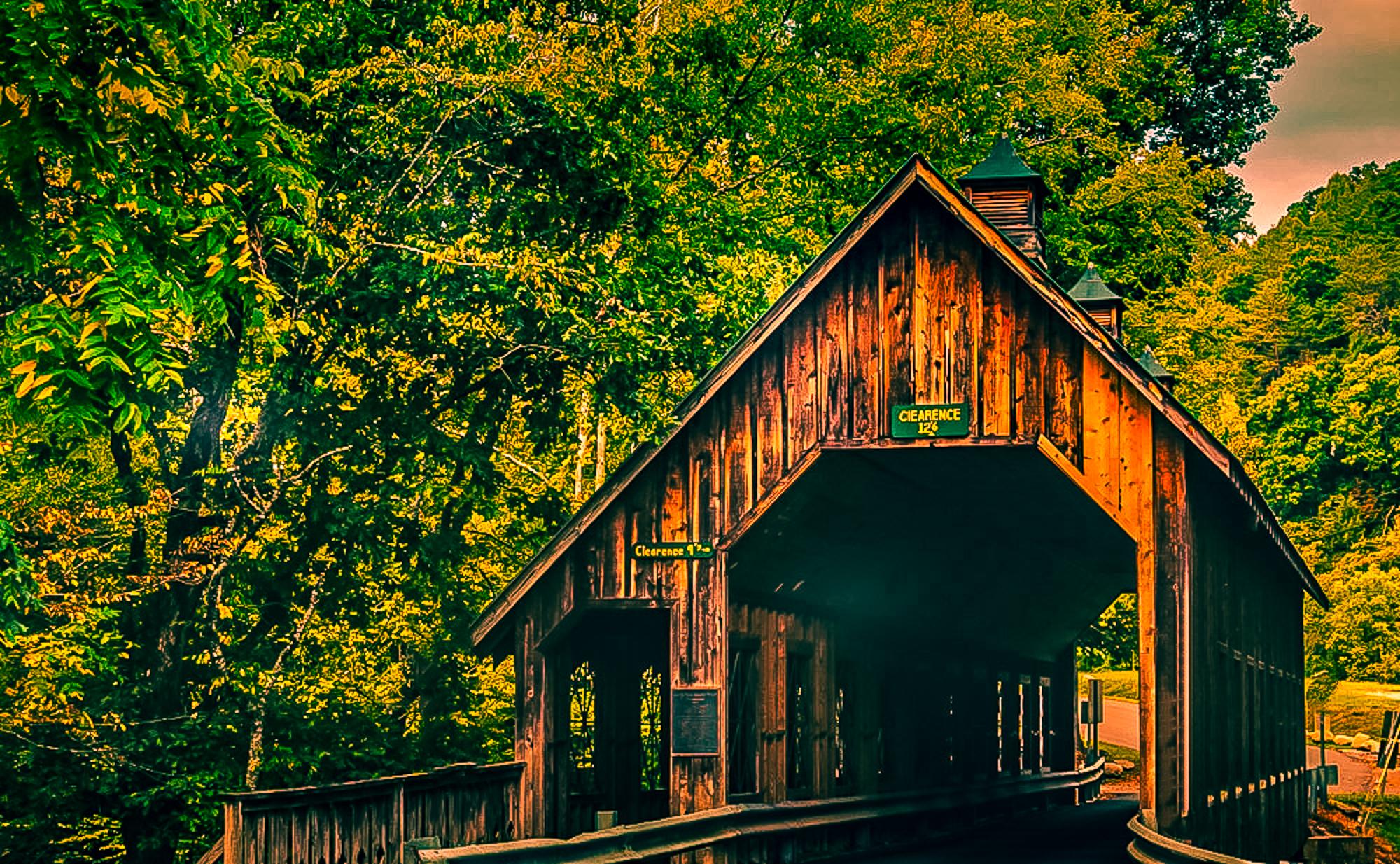 58078A - Covered Bridge Entrance