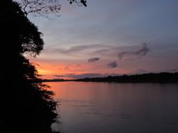 Sunset during our night caiman safar