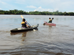Kayaking on the Madre de Dios