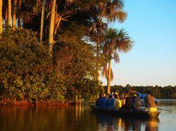 Canoeing in Lake Sandoval