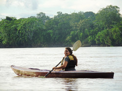 Kayaking on the Madre de Dios river