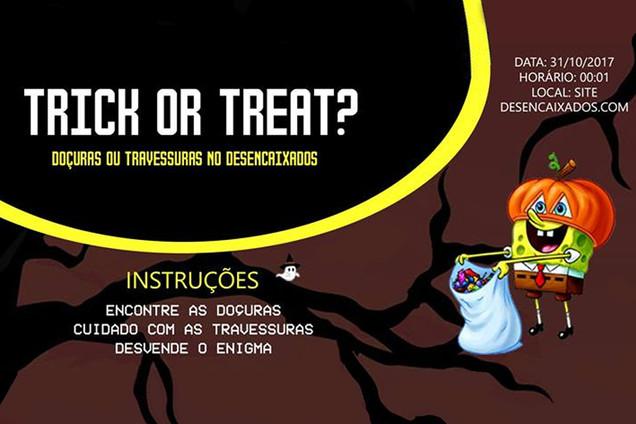 [Divulgação] Trick or Treat no Desencaixados:Um jogo temático