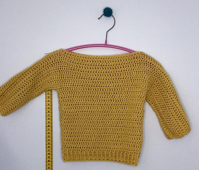 Pullover Olivia mustard