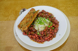 Red Beans and Rice w Alligator Sausage