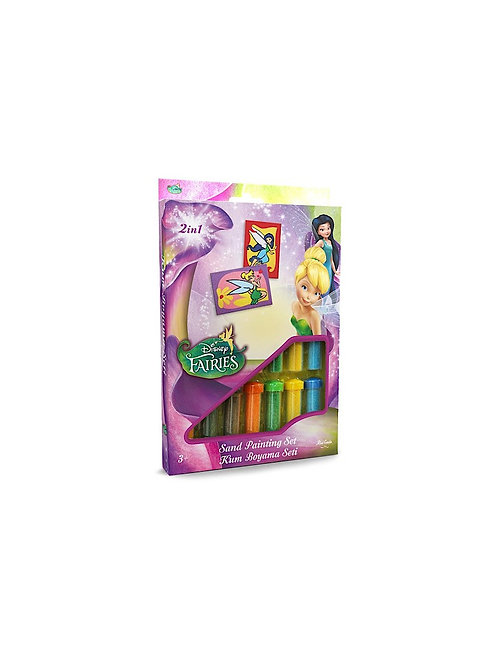 Disney Fairies Sand painting Set DS-12 Sandmalkarten, 2in1 Set