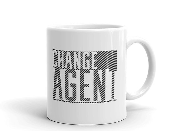 Change Agent White Glossy Mug