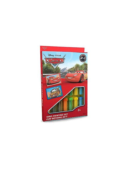 Disney Cars Sand painting Set DS-05 Sandmalkarten, 2in1 Set