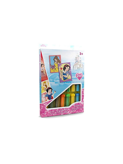 Disney Princess Sand painting Set DS-08 Sandmalkarten, 2in1 Set
