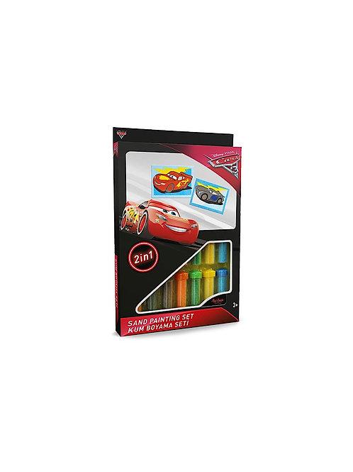 Disney Cars Sand painting Set DS-30 Sandmalkarten, 2in1 Set