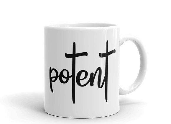Potent White Glossy Mug