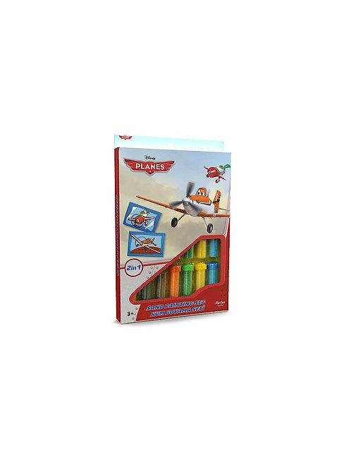 Disney Planes Sand painting Set DS-09 Sandmalkarten, 2in1 Set