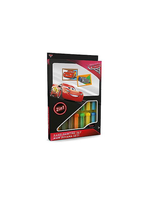 Disney Cars Sand painting Set DS-29 Sandmalkarten, 2in1 Set