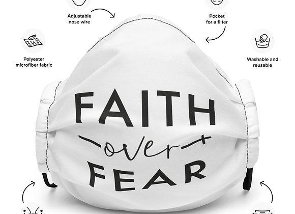 Faith Over Fear Premium Face Mask