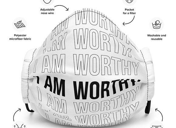I Am Worthy Premium Face Mask