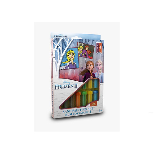 Disney Frozen II  Sand painting Set DS-34 Sandmalkarten, Elsa und Anna. 2in1 Set