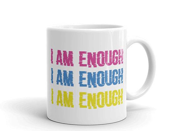 I Am Enough White Glossy Mug
