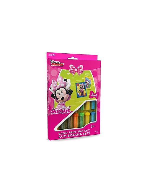 Disney Minnie Sand painting Set DS-03 Sandmalkarten, 2in1 Set