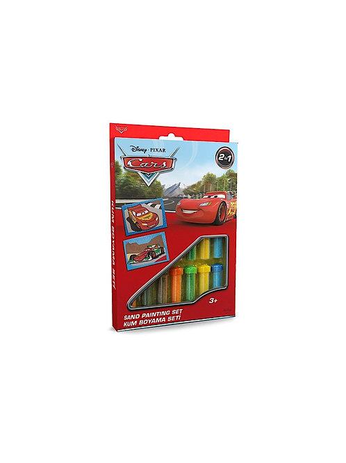 Disney Cars Sand painting Set DS-06 Sandmalkarten, 2in1 Set