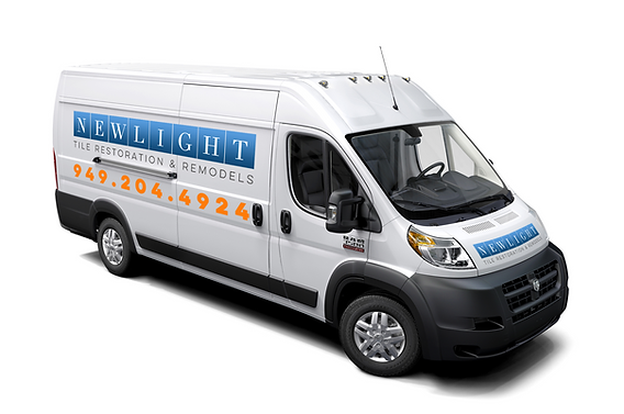 Newlight Tile Restoration & Remodels - Service Vehicle