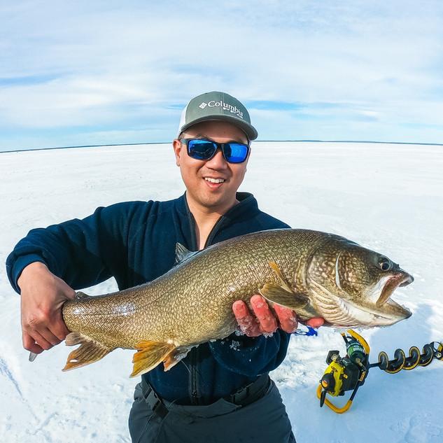 Cold Lake, AB Ice Fishing Lake Trout