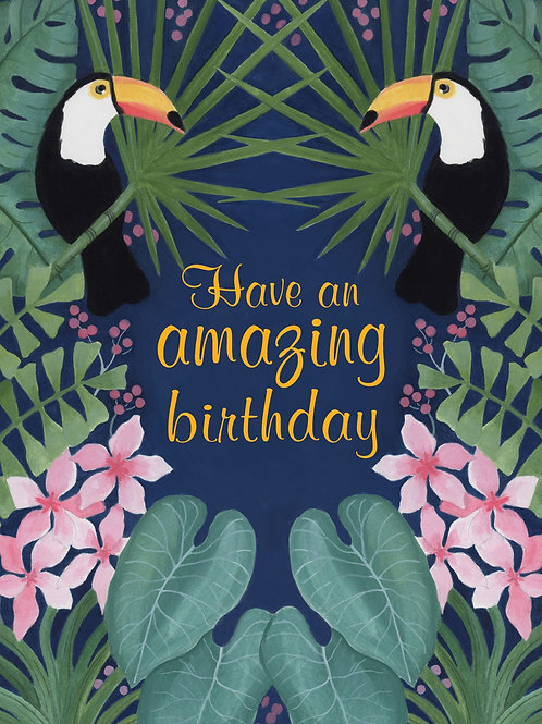Birthday Card - Toucans