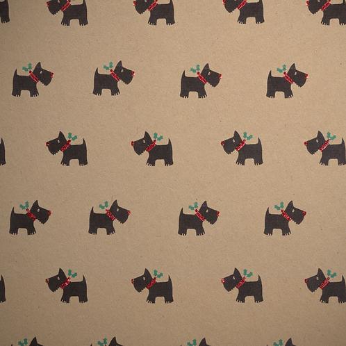 Gift Wrapping | Bio Glitter Scottie Dog