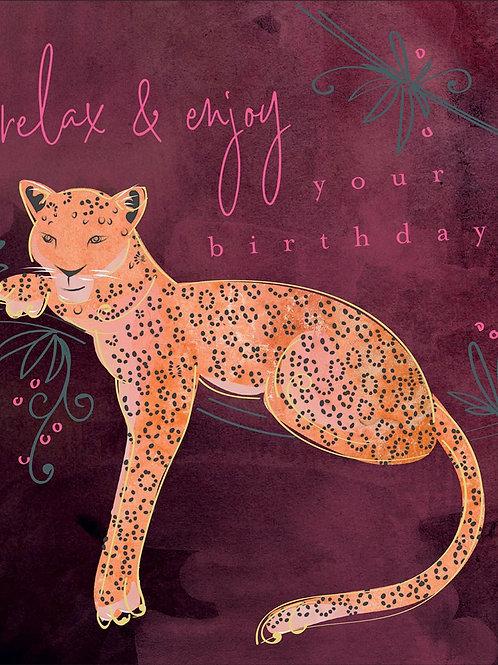 Birthday Card - Leopard