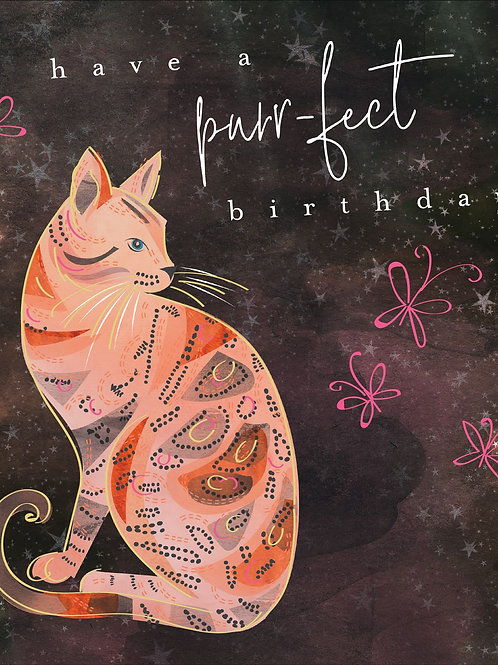 Birthday Card - Cat