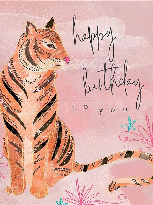 Birthday Card - Tiger