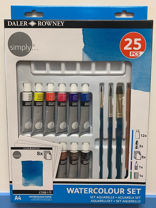 Daler Rowney Simply Acrylic Set of 25 Pieces