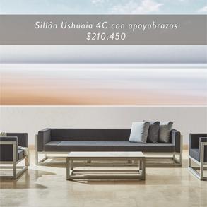 Sillón Ushuaia 4C con apoyabrazos • $210.450