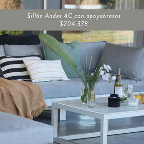 Sillón Andes 4C sin apoyabrazos • $204.378