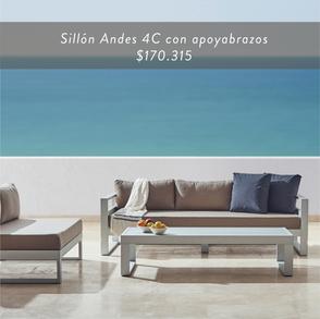 Sillón Andes 4C sin apoyabrazos • $170.315