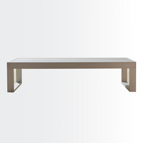 Andes coffee table • aluminium surface