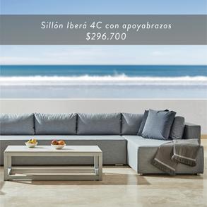 Sillón Iberá 4C con poyabrazos • $296.700
