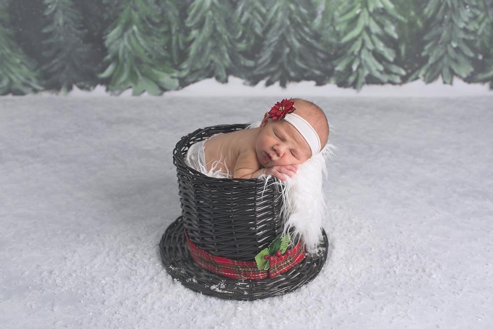 newborn baby girl snowman hat