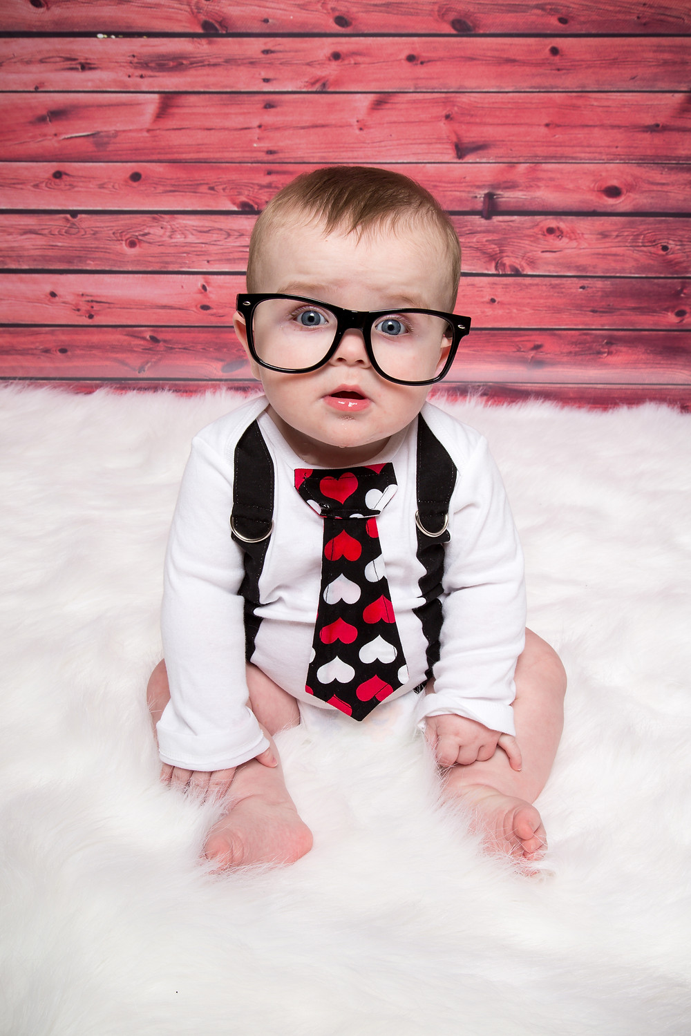 6 month baby boy suspenders and glasses