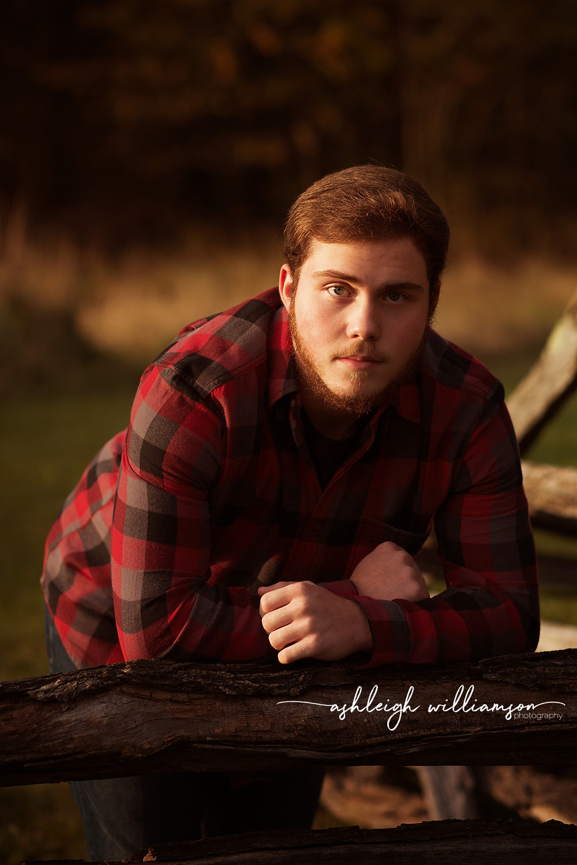 senior boy photo