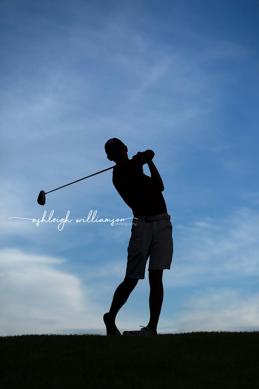 senior boy golf