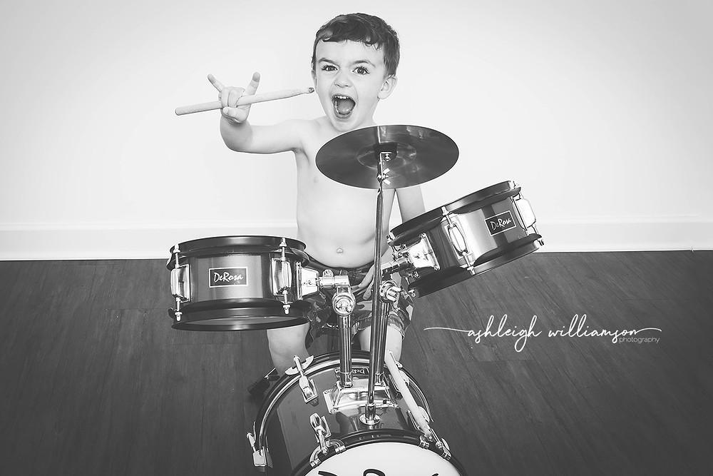 toddler drummer
