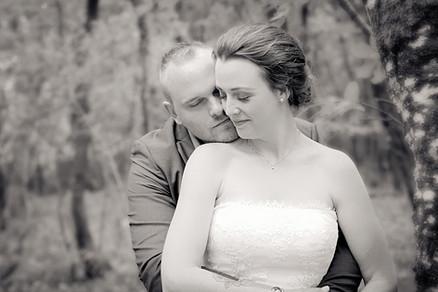 Portræt af bryllupspar